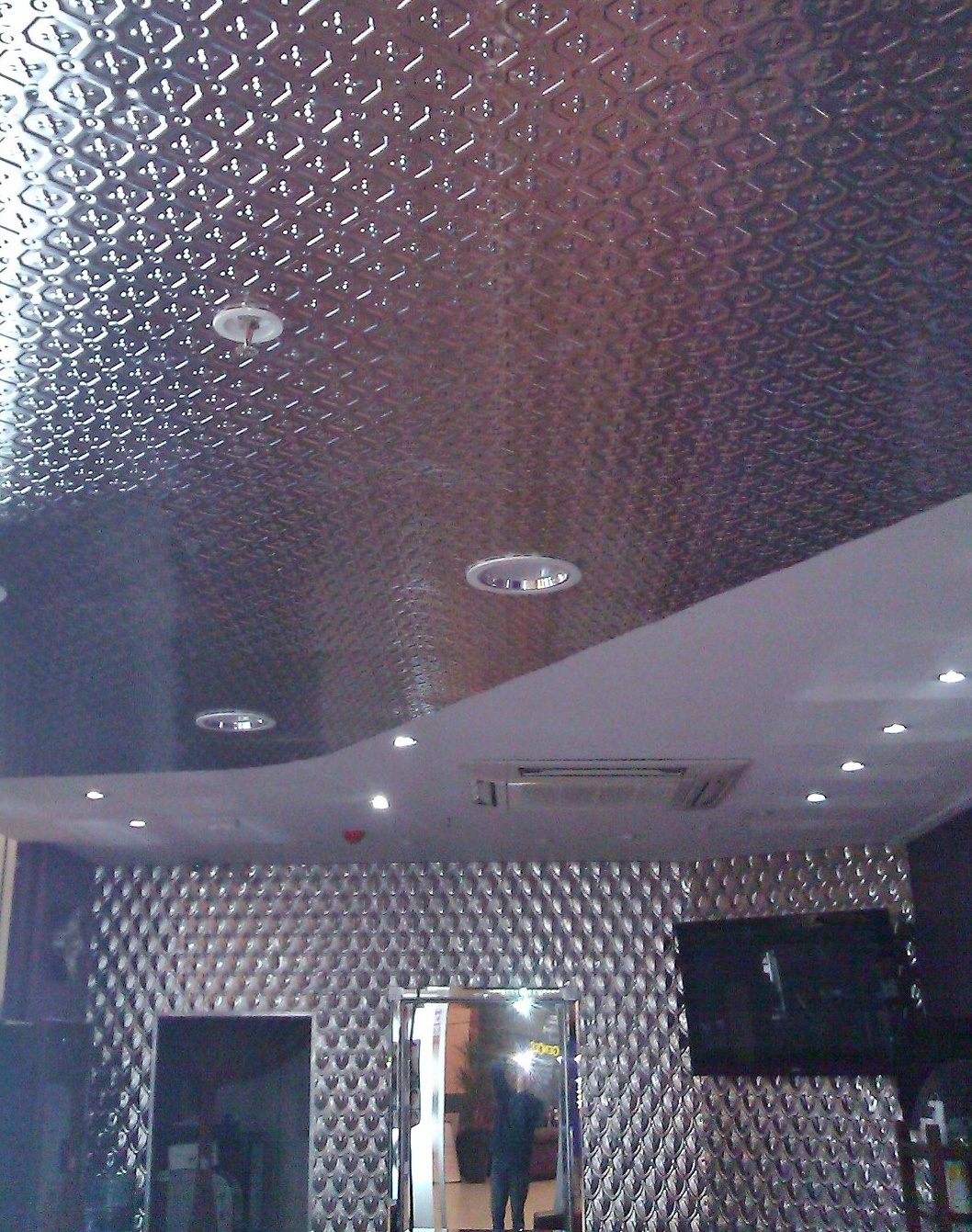 Stockholm Design Ceiling and Fishscale Wall