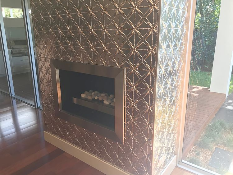 Lattice Design Fireplace