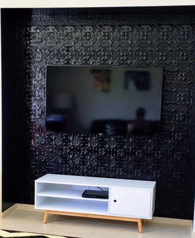Lizards Design Black Feature Wall